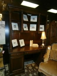 Price: $549.99 	 Item #: 133737 Broyhill desk with  matching hutch. Measures 64 x 24 x 85.