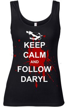 The Walking Dead Tanktop Daryl Dixon Top Keep calm and follow Daryl Gr. S M L XL XXL