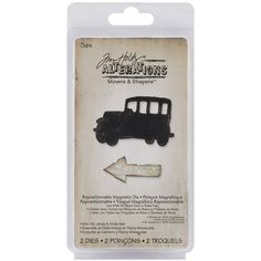 Sizzix Movers & Shapers Magnetic Dies By Tim Holtz 2/Pkg-Mini Old Jalopy & Arrow