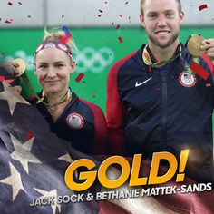 NBC Olympics @NBCOlympics  21h21 hours ago .@JackSock, @BMATTEK take #gold in tennis mixed doubles! #USA