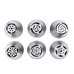 Piping Tips, MCIRCO 6-piece Russian Piping Tips Stainless Steel Cake Decorating Supplies Icing Tips DIY Cake Decorating Kit Pastry Tubes -- Startling review available here at : Baking tools