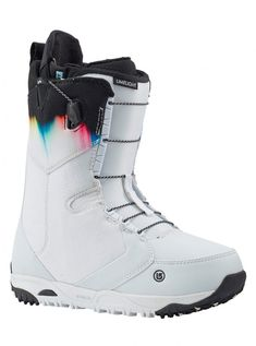 Women's Burton Limelight Snowboard Boot shown in White / Spectrum Snowboarding Outfit, Snowboarding Women, Winter Hiking, Winter Fun, Winter Gear, Snow Boots, Winter Boots, Softball, Volleyball