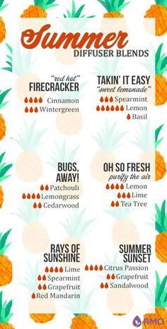 Try out these fun summer diffuser blends to brighten any day!