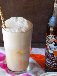 Beer Creamsicle Float. Best adult summer time dessert recipe ever!