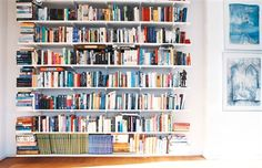 A wall filled with books