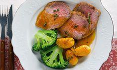 Vitela assada com tomilho, o prato ideal para preparar ao fim-de-semana e servir ao longo da semana.