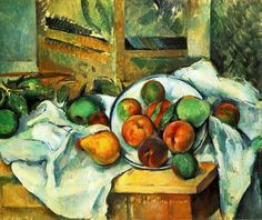 "Paul Cezanne ""Table, Napkin and Fruit"", 1900 (France, Post-Impressionism, 20th cent.)"
