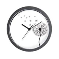 CafePress  Blowing Dandelion  Unique Decorative 10 Wall Clock -- This is an Amazon Affiliate link. Read more at the image link.