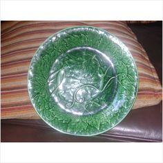 Victorian Cabbage Leaf In Basket Majolica Wedgwood Dark Green Dish plate Listing in the Ornamental & Decorative,Wedgwood,China & Porcelain,Porcelain, Pottery & Glass Category on eBid United Kingdom