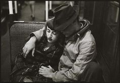 Stanley Kubrick Couple on a subway. New York City (1946)