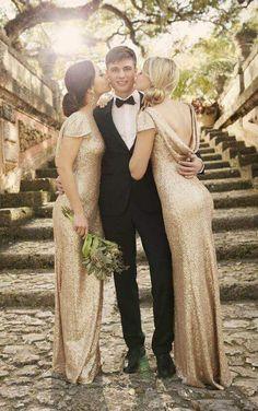 8718 Modern Metallic Bridesmaid Dress by Sorella Vita