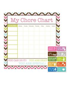 Look what I found on #zulily! Pink Zigzag Chore Chart #zulilyfinds
