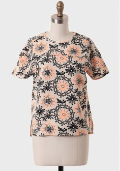 Flower Power Printed Blouse at #Ruche @shopruche