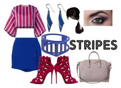 """""""Stripes:02"""" by shiningpearl08 ❤ liked on Polyvore featuring Stella Jean, Versus, Giuseppe Zanotti, Givenchy and Belk Silverworks"""