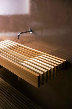 wood bathroom brown  http://www.matteothun.com/