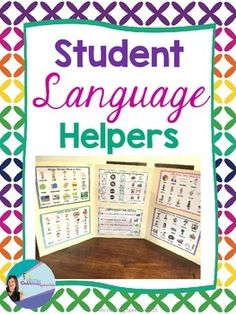 Student Language Helpers to help with visuals for language centers or independent activities.