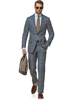 Suit Light Blue Check Sienna P3823i | Suitsupply Online Store
