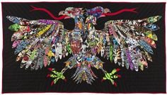 Ben Venom, Venom Held Ransom, heavy metal t-shirts made into quilt art.