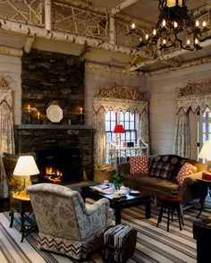 Beautiful rustic livingroom.