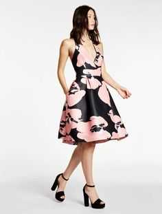 Printed Structured Dress