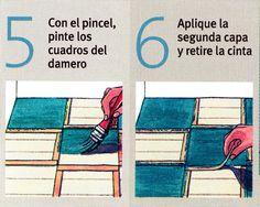 Como decorar un Piso de madera Pintando un Damero