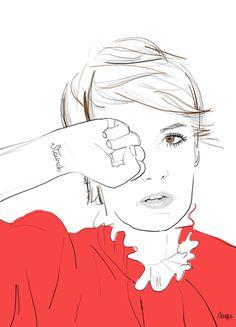 Lena Dunham #illustration #drawing #fashion #sketch #art #LenaDunham #GIRLS #HBO