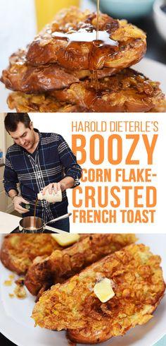 Boozy Corn Flake-Crusted French Toast