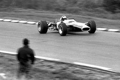 Jim Clark in the #5 Lotus 49 at Watkins Glen GP 1967
