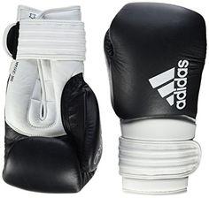 94a6e46320c Adidas Hybrid 300 Boxing Gloves, Unisex, Hybrid 300, Black / White, 16