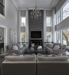 Elegant Living Room, Living Room Grey, Formal Living Rooms, Home Living Room, Interior Design Living Room, Living Room Designs, Interior Livingroom, Beautiful Living Rooms, Large Living Rooms