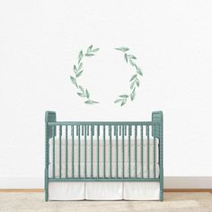Olive Wreath Individual Wall Decal Nursery Ideasbudget