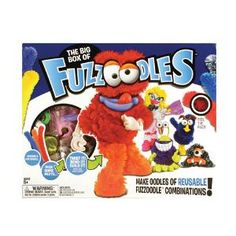 Fuzzoodles® The Big Box Kit - Includes 22 Fuzzoodles®, 26 parts and idea book, kids, play,