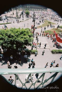 Looking down at the Zocalo, Mexico City