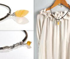 Amber Pendant Necklace Butterscotch Baltic Amber by AnnaBujak