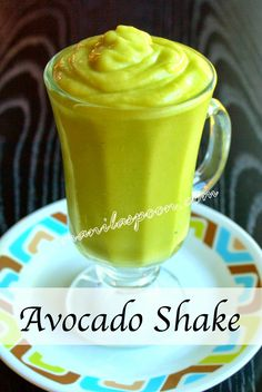 Totally yummy and very healthy AVOCADO SHAKE!