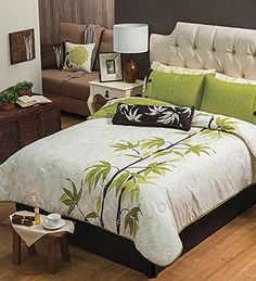 Asia Reversible Comforter Set Queen >>> Learn more by visiting the image link. Queen Comforter Sets, Bedding Sets, Bed Sheet Painting Design, Fabric Painting, Designer Bed Sheets, Painted Beds, Fabric Paint Designs, Dreams Beds, Bed Covers