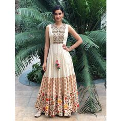 Diana Penty has managed to pull it off in these traditional outfits. Multi Colour Top Fabric Muslin and Banarasi Silk Bottom Color Bottom Fabric Top Max Length 60 Top Max Bust 44 Semi Stitched Occasion Sangeet Pakistani Dresses, Indian Dresses, Indian Outfits, Pakistani Bridal, Designer Gowns, Indian Designer Wear, Anarkali Gown, Party Wear Dresses, Gowns Online