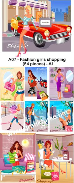 A07-Fashion Girls Shopping – Hanmaker