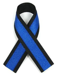 Thin Blue Line Ribbon in honor of the police and their service ...