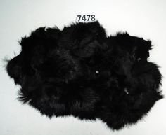 Rabbit Fur Scraps, Real Fur Pieces, Real Fur Pieces, Fur Offcuts for Craft and Sewing Project, Genuine Fur Cuts, Fur Trim, Black Rabbit Fur