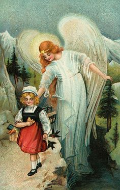 Cards Scrapbooking and Art: Vintage Angel & Fairy images Guardian Angel Pictures, Your Guardian Angel, Gardian Angel, Angel Protector, Victorian Angels, Angel Drawing, I Believe In Angels, Angels Among Us, Angel Cards