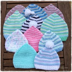 Baby Pixie Hat/ comes in preemie/ FREE CROCHET pattern