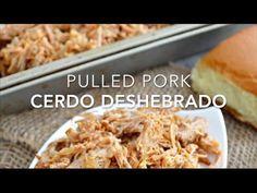 Puerco o cerdo deshebrado (pulled pork en crockpot)