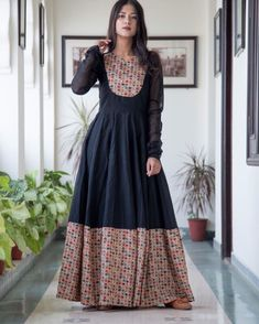 Elegant Silk Dresses & Suits That Are Trending Right Now! Elegant Silk Dresses & Suits That Are Trending Right Now! Silk Dress Design, Long Dress Design, Dress Neck Designs, Kurta Designs, Kurti Designs Party Wear, Indian Gowns Dresses, Pakistani Dresses, Anarkali Dress, Stylish Dresses For Girls