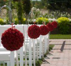 wedding, red, decor