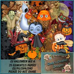 "Cindy's Creative Designs: New In Store's ""CU Halloween Mix 4"""