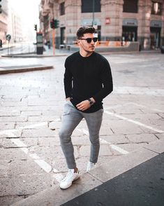 57 Casual Street Style Outfits for Men - Artbrid - Stylish Mens Outfits, Casual Outfits, Men Casual, Casual Outfit For Men, Men Fashion Casual, Nice Outfits For Men, Mens Fashion Sweaters, Stylish Clothes, Smart Casual