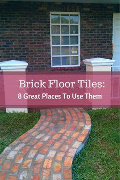 Find out the best places to install brick floor tiles. The choice is yours! #mortonstones #brickwall #rustic #home #decor #interiordesign #interior #homeideas #brickveneers #bricktiles #accentwall #floor #flooroptions #brickfloortiles