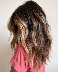 Balayage Lob, Brown Hair Balayage, Brown Blonde Hair, Hair Color Balayage, Partial Balayage Brunettes, Honey Balayage, Hair Bayalage, Hair Color Ideas For Brunettes Balayage, Summer Hair Color For Brunettes