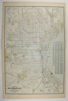 1896 Minneapolis Map St Paul Map Twin Cities Map Vintage Decor